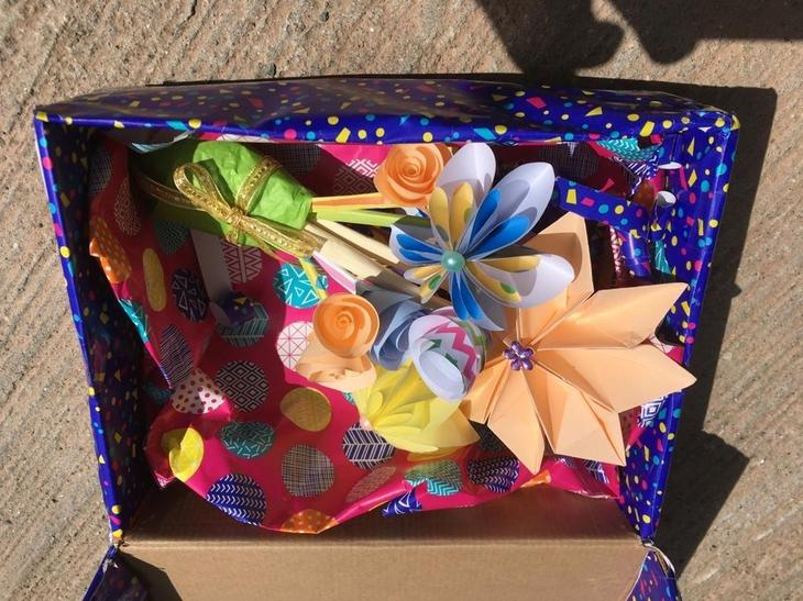 A beautiful box of crafts for grannies