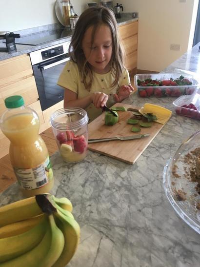 Making a fruit sald