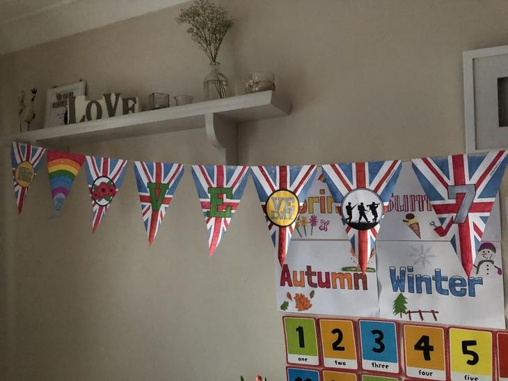 Look at the fabulous VE Day bunting