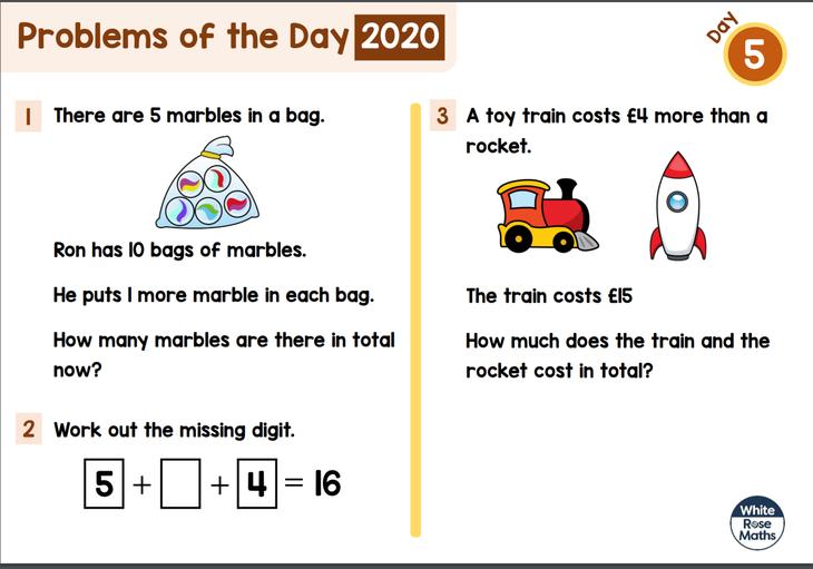 Key Stage 1 Maths Problem
