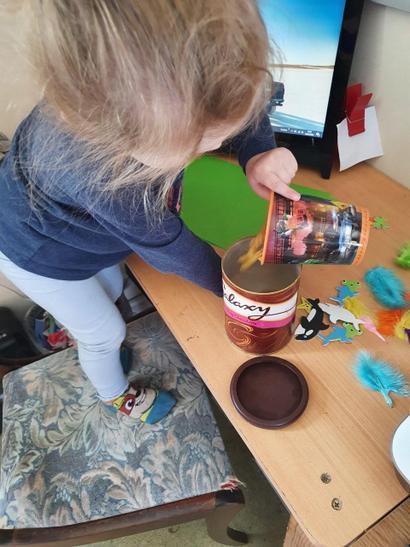 Skye making a shaker