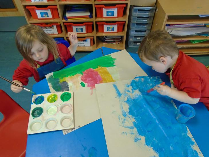 Painting with bright colours