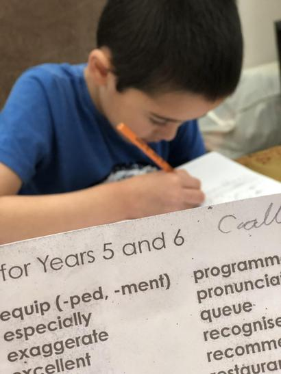 Connor learning year 5 and 6 spellings