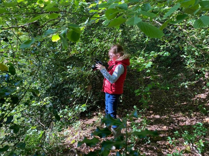 Elspeth busy photographing nature
