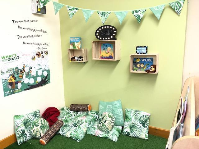 An example of a KS1 reading area