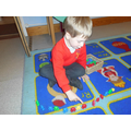Daniel chose to practise counting using the bears.