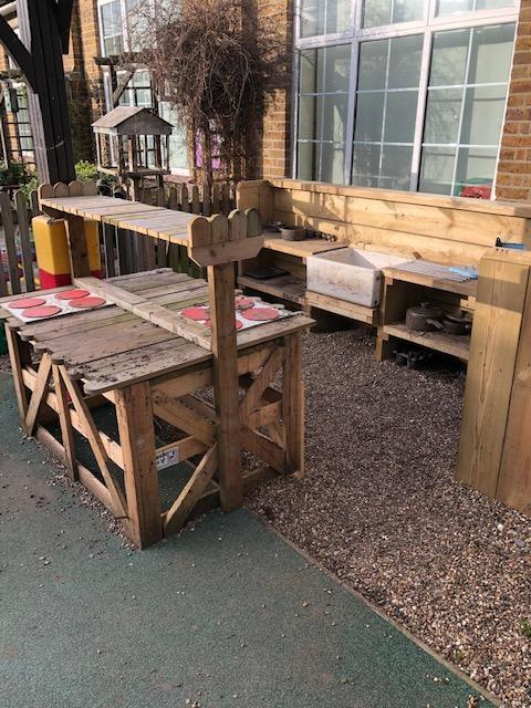 KS1 mud kitchen