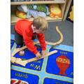 Building a train track.