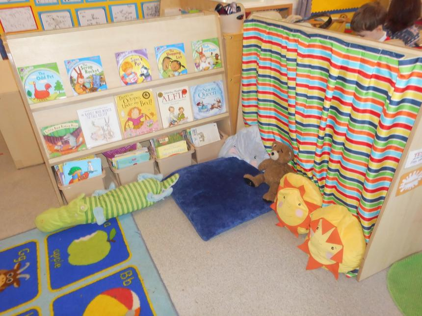 Reception book corner