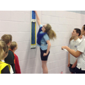 Niamh vertically jumps 40cm