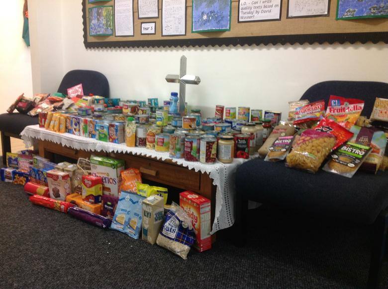 Food donations for Stratford Food bank.