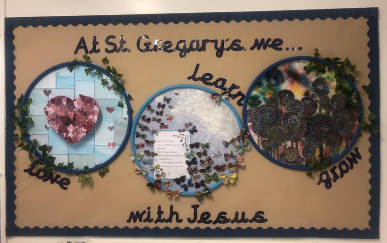 School Motto Display created by KS2 pupils