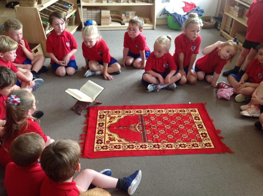 We explored the faith artefacts.