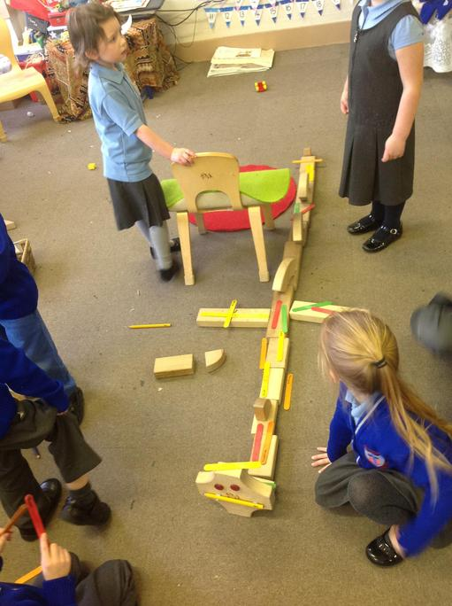 We made a dragon with blocks!