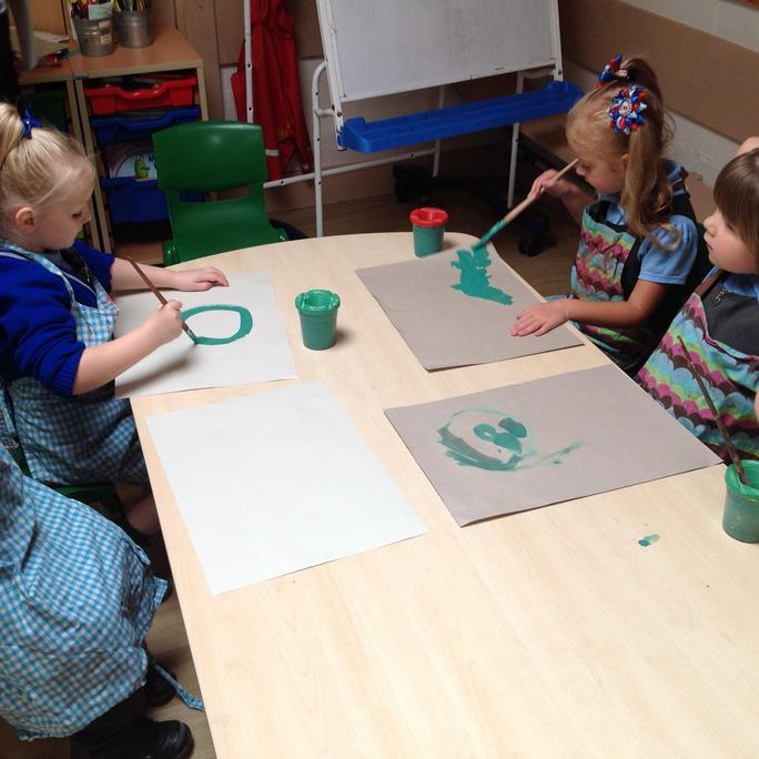 We painted crocodiles!