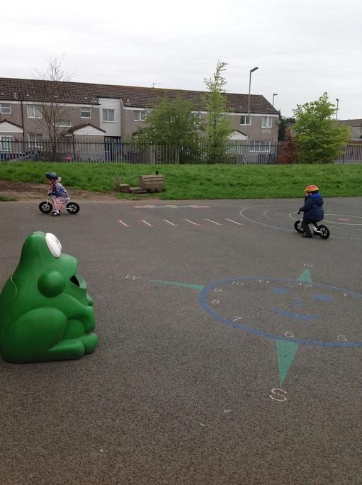 We had fun using our new bikes and helmets!