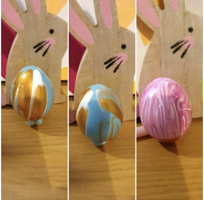 Lola M's egg decorating