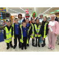 Famous characters out and about at Morrisons