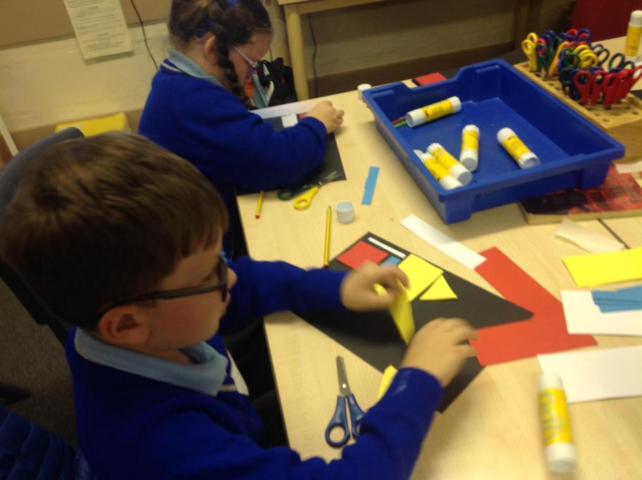 work in the style of Piet Mondrian