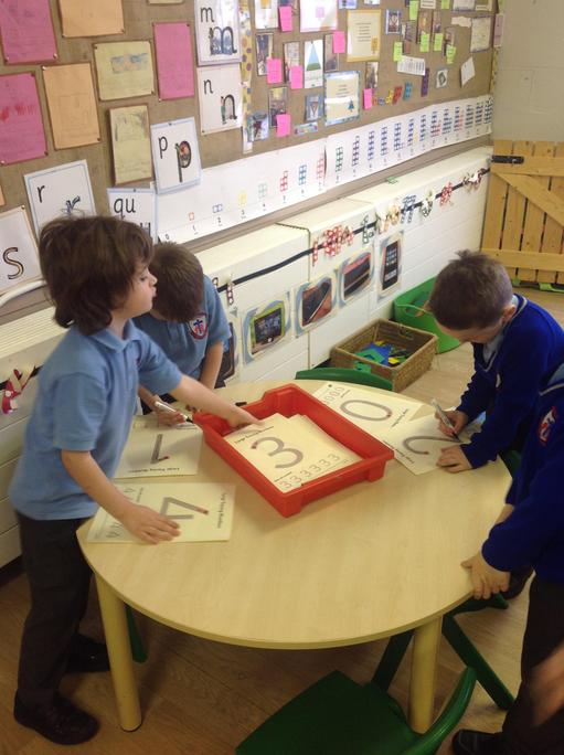 Writing our numbers!