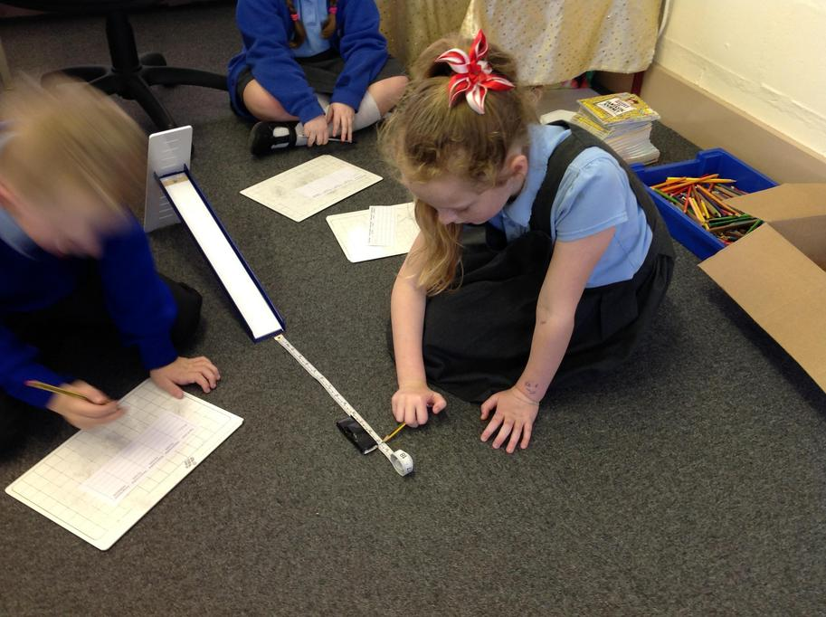 We used a tape measure to check the distance.