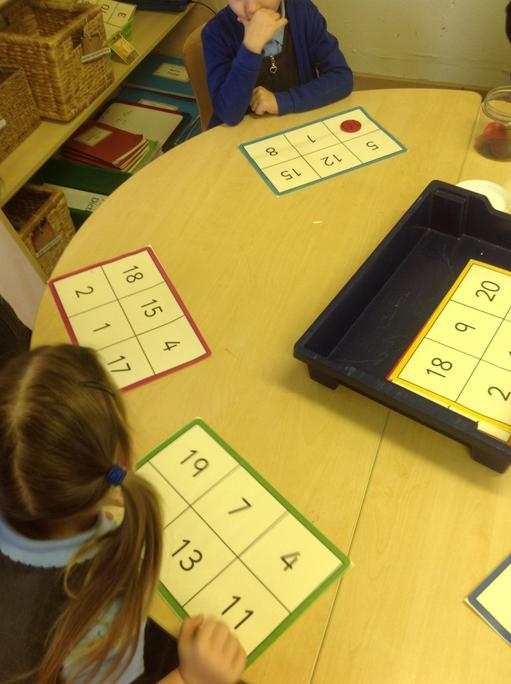Playing number bingo!