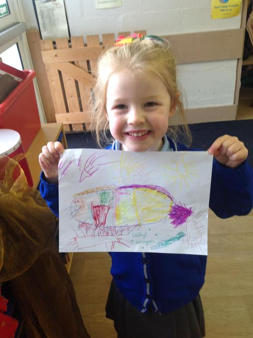 Daisy drew a Chinese dragon.