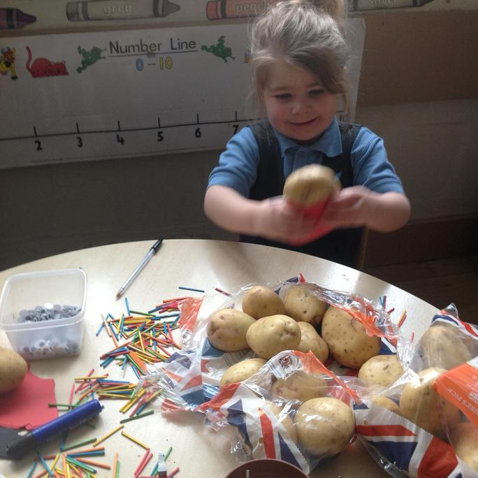 We had fun making our own Supertato