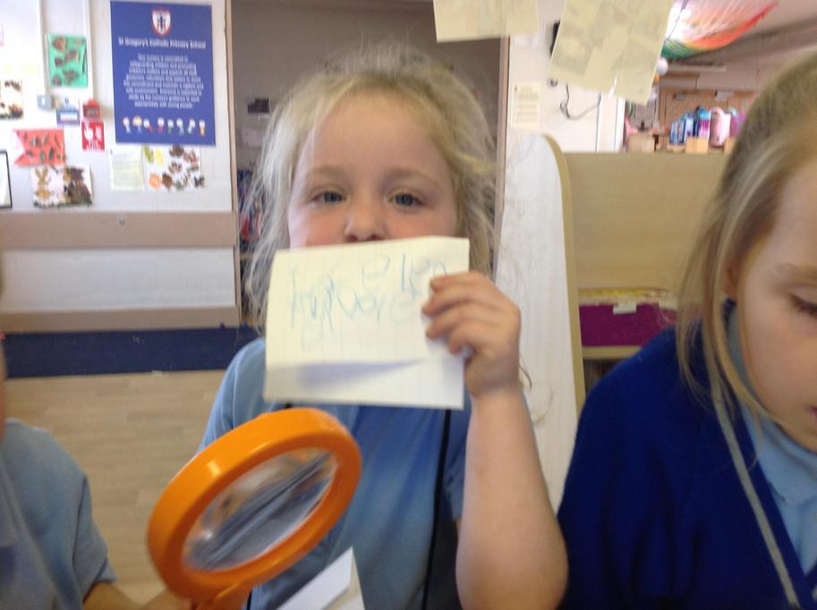 'Don't drop me' wrote Matilda!