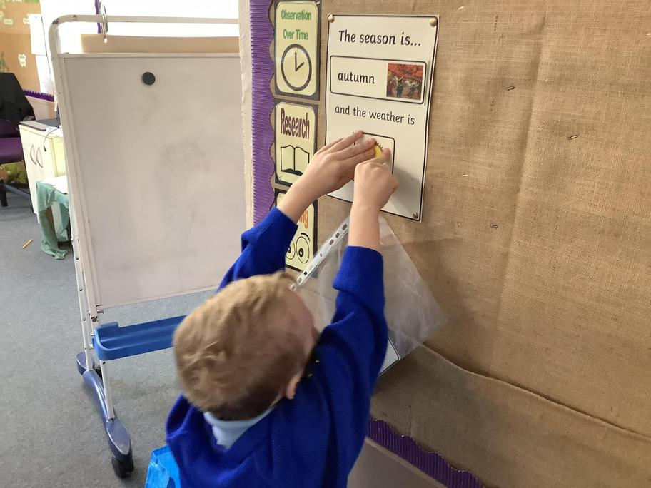 We look at the weather daily and change the weather chart.