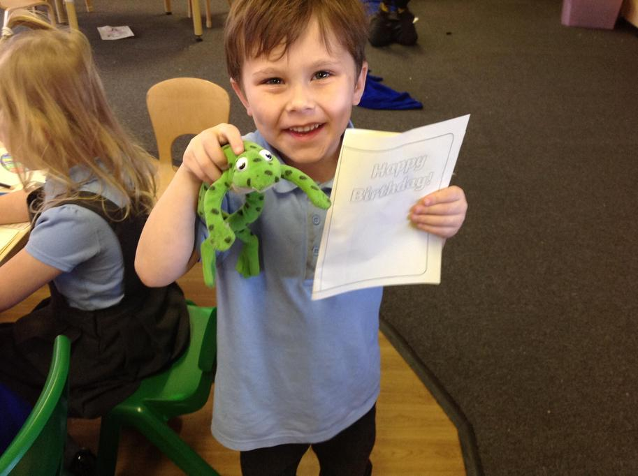 Fred helps us to read and write!
