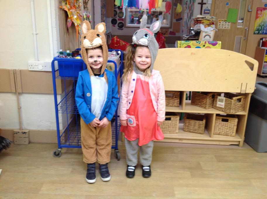 Not one but two Peter Rabbits!