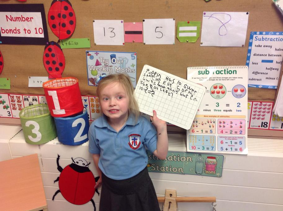I wrote my own subtraction story!
