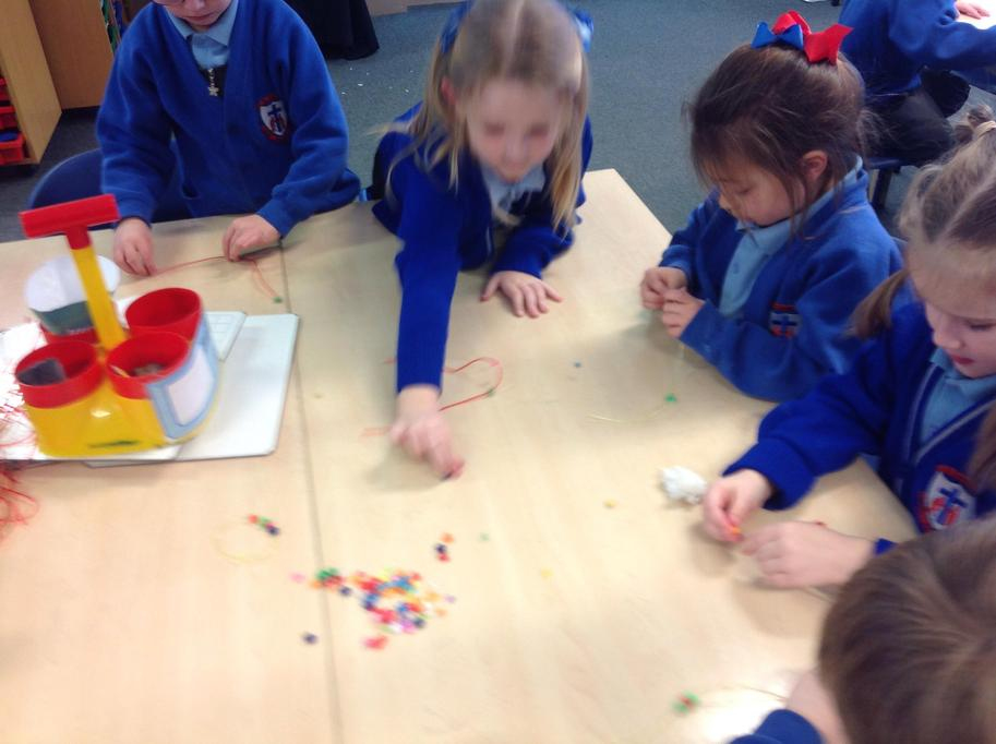 I'm making a pattern with my beads.