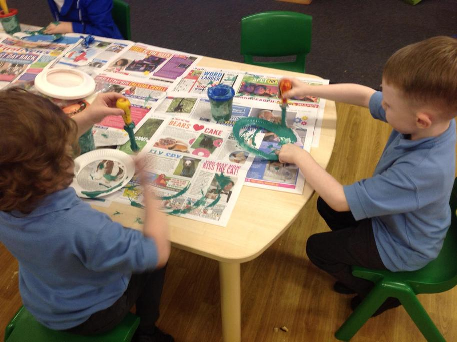 Making Advent wreaths
