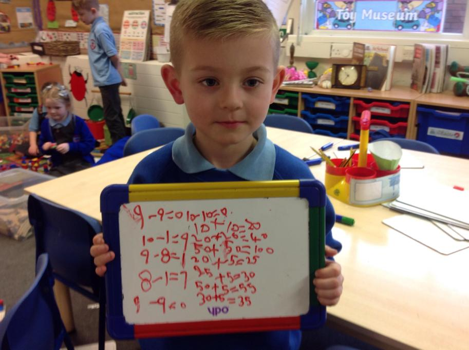 Writing my own number sentences during choose time