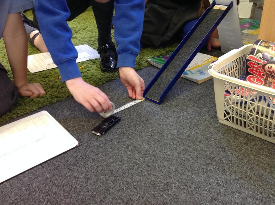 We measured in cm