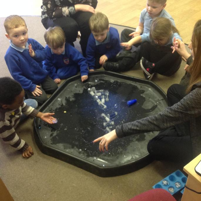 We investigated and explored ice the children made