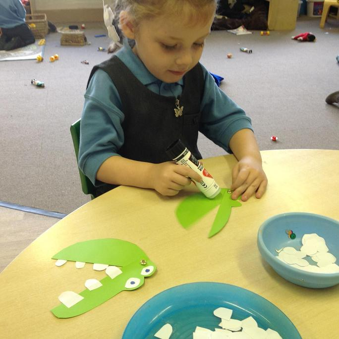 We made Crocodiles with moving mouths!