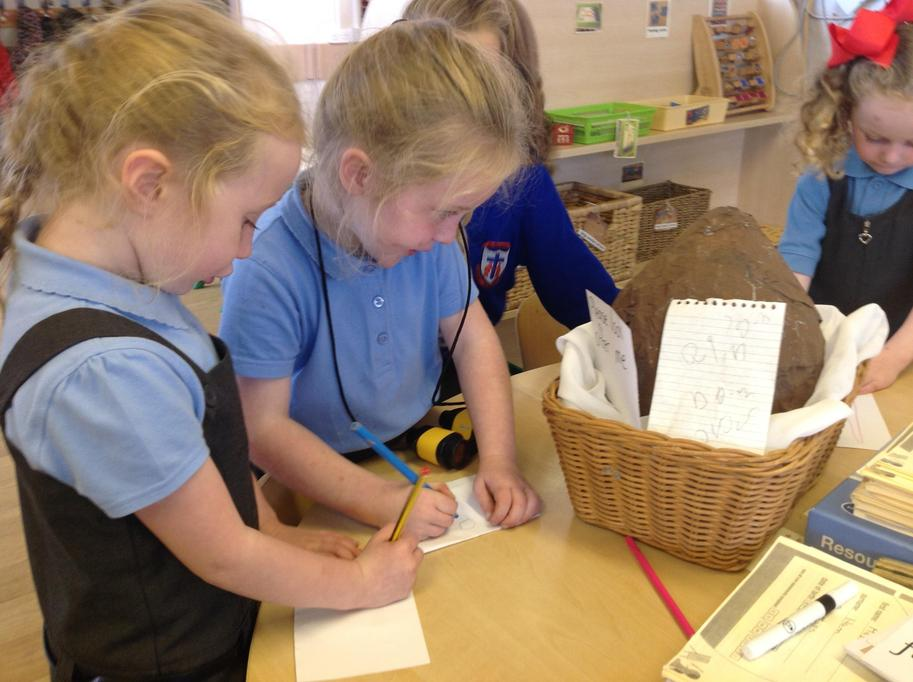 We wrote to the dinosaur egg!