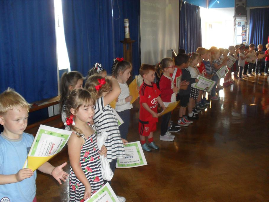 The children each received a special certificate.