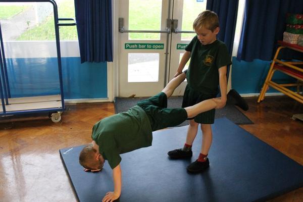 Gymnastics PE Lesson