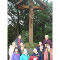 Representing St. Gregory's at The War Memorial.