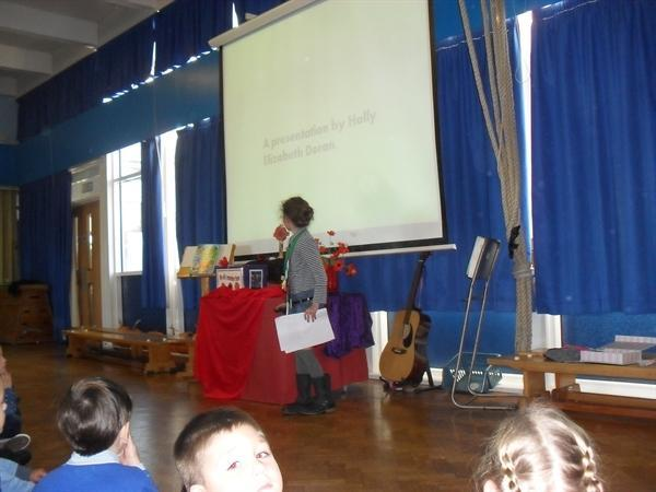 Year 3 Eco warrior gives a whole school Assembly