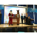 Father Christmas & Rudolph meet Ned