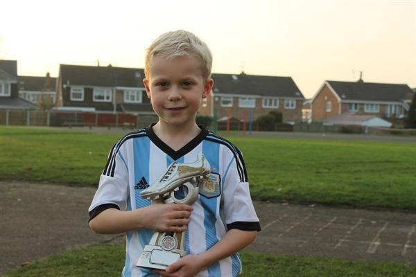Ben with his MOTM award