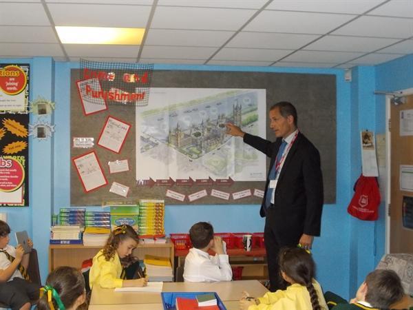 Sefton MP Bill Estersen visiting Y4!