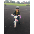 We had lots of fun learning to ride our bikes!