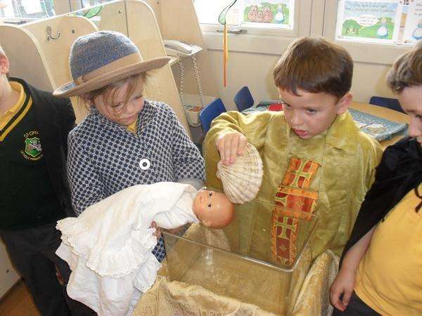 Acting out a Baptism