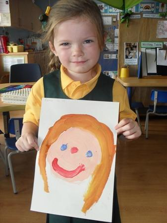 We painted pictures of our faces